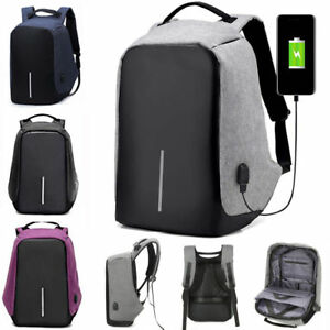 Anti-vol-Sac-a-dos-Backpack-USB-Charge-Bandouliere-Laptop-Ecole-Voyage-etanche