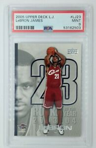 2005 Upper Deck LJ Rookie of the Year Lebron James #LJ23, PSA 9, Pop 8, 2 ^ !