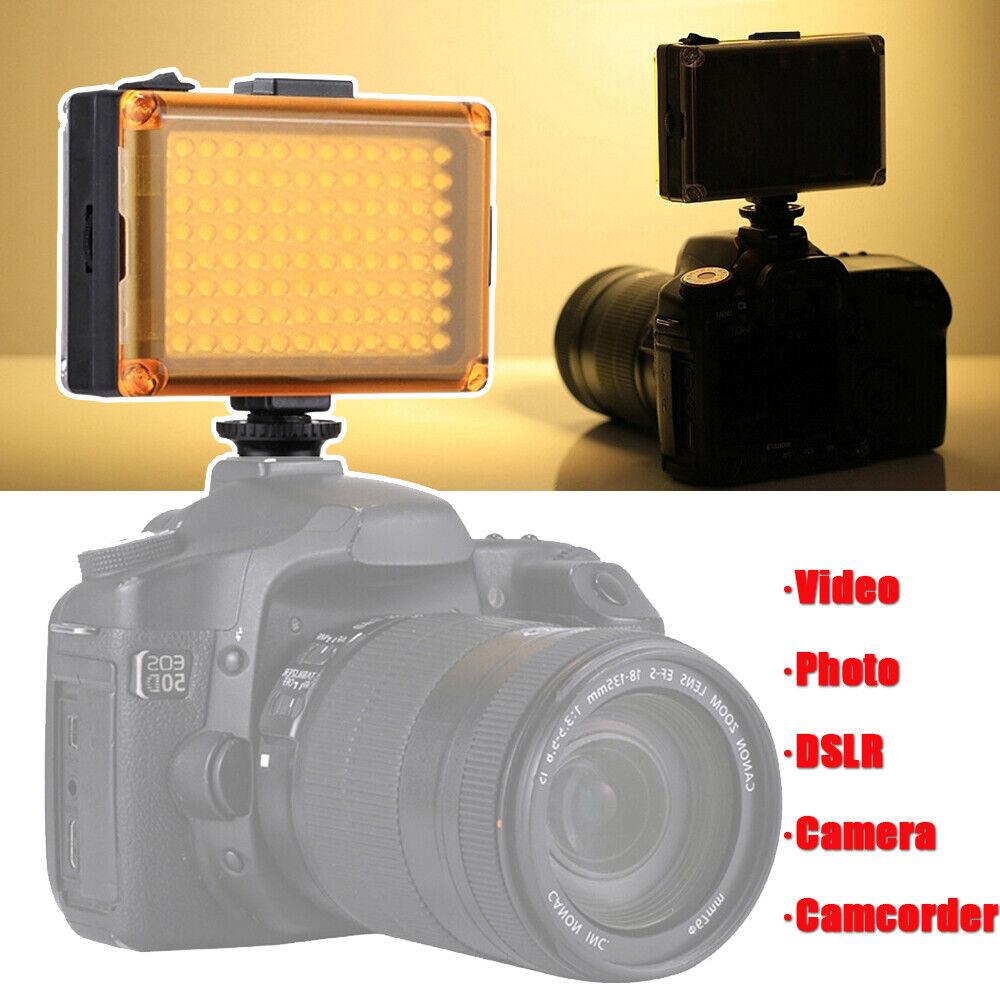 LED Video Fill Light Photo Battery Powered Lighting Lamp DSLR Camera Camcorder