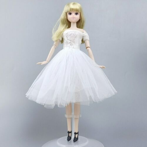 """White Fashion Doll Clothes For 11.5/"""" Doll Dress Gown Short Dresses Outfits Toy"""