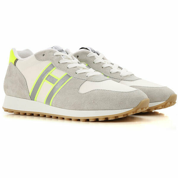 HOGAN - MEN'S SHOE HXM4290AN52KMF75TQ WHITE + FLUO SS19