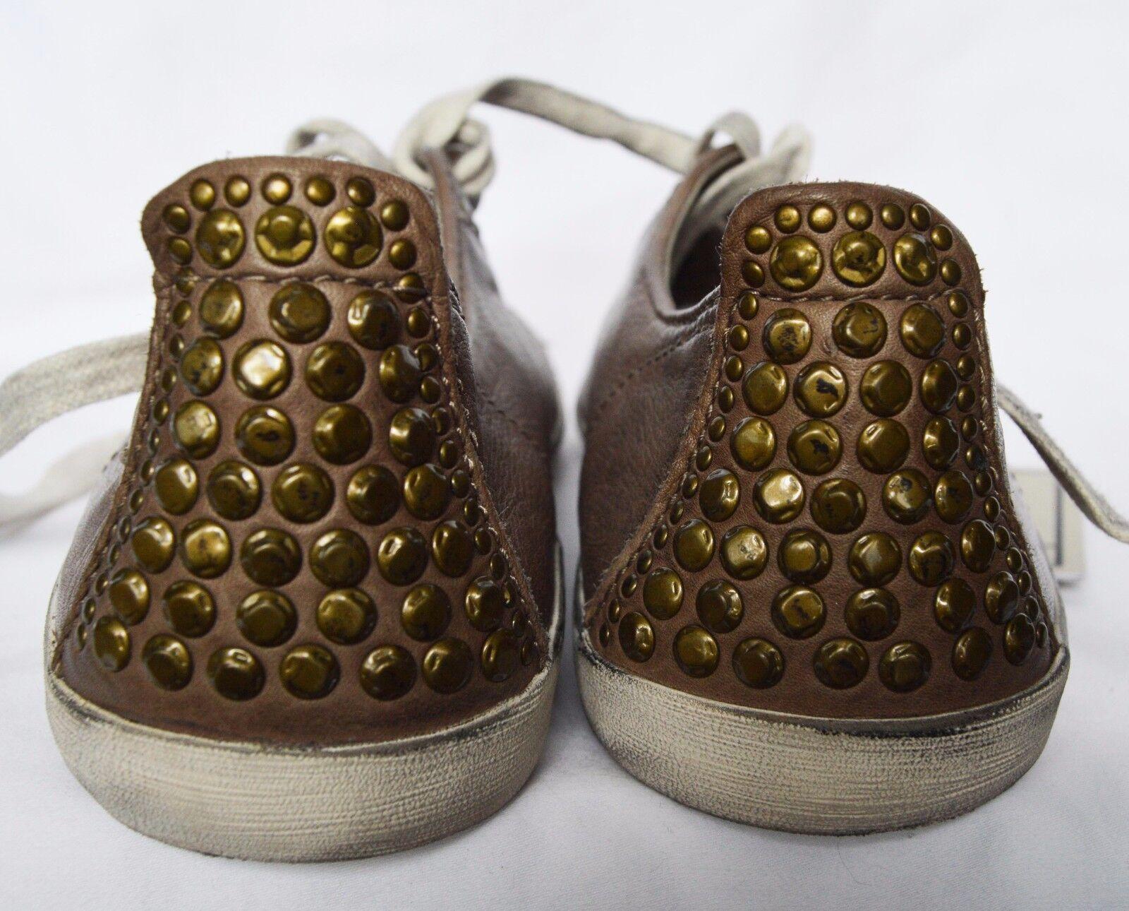 Women's FRYE KIRA Studded Taupe Leather Fashion Fashion Fashion Sneakers Sz. 6   198 1a38ba