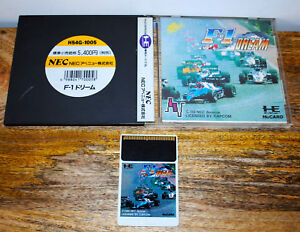 Jeu-F-1-DREAM-sur-NEC-PC-ENGINE-HUCARD-complet-import-Jap-NTSC