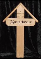 Grabkreuz Holzkreuz Wegkreuz Unfallkreuz Mit Gravur Name Eiche Mit Dach