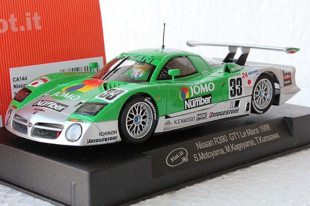 Slot IT SICA 14D Nissan R390 GT1 Le Mans 1998,  33 1 32 ranura de coche