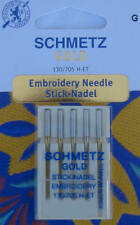 5 Schmetz Gold Titan-Sticknadeln 130-705 H-ET Stärke 75/11 Embroidery Needle