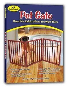 Wood Wooden Folding Pet Dog Gate Room Divider Door Way ...