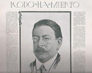 Coupure De Presse Rodó Ha Muerto Par Fernández Moreno 1917 Rkbttw69-07155203-424748004