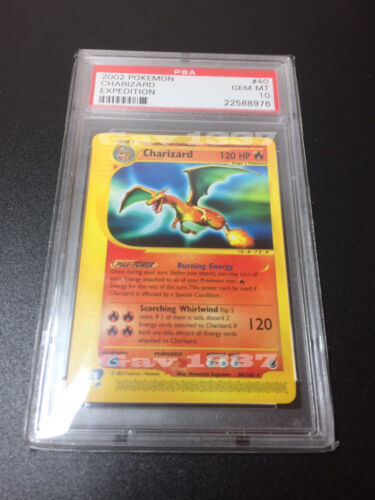 2002 Pokemon Expedition Charizard PSA GEM MINT 10! #40 Rare NonHolo 22588976