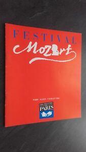 Revista Opera Festival Mozart Orquesta De París 16 Junio A 9 Julio 1983 Buen