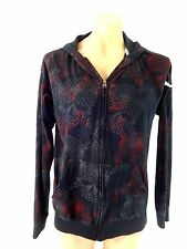 FISSION BOYS SIZE XL BLACK HOODIE WITH SKULL PRINT 100% COTTON