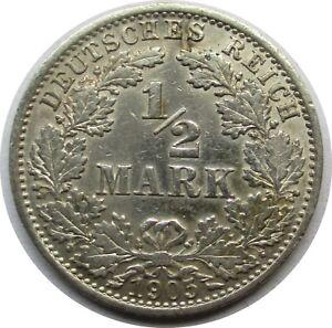 Deutsches-Kaiserreich-1-2-Mark-1905-A-Silber