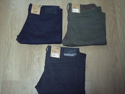 Wrangler Texas Stretch Regular Fit Smooth Trousers Jeans W32 L34 New