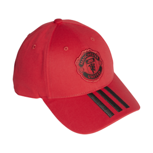 Adidas Hat Soccer Cap Hat Manchester United 3 Stripes Football ... ad5a1d17732