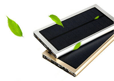 200000mAh Solar Power Bank Charger Battery Backup Galaxy Iphone Portable Mobile