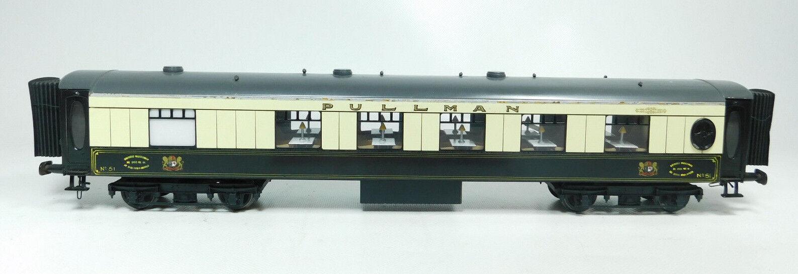 BI667-2   Fulgurex Escala 0   Dc Vagón de Pasajeros Lata Pullman N º 51 Tope