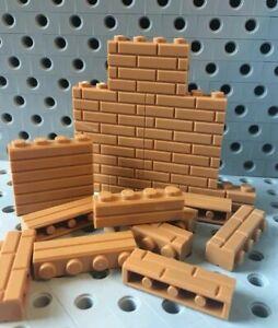 Lego-Bricks-1x4-Medium-Nougat-Modified-w-Masonry-Profile-Wall-25pcs