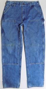 Carhartt B73 Double Front Logger Denim Jeans Dungarees Pants Mens Size 36 X 36 Ebay