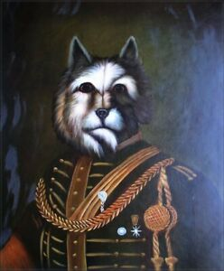 Quality-Hand-Painted-Oil-Painting-Dog-General-20x24in