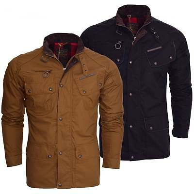 Ringspun Mens Designer High Quality Cotton Field Jacket Men's Smart Casual Coat