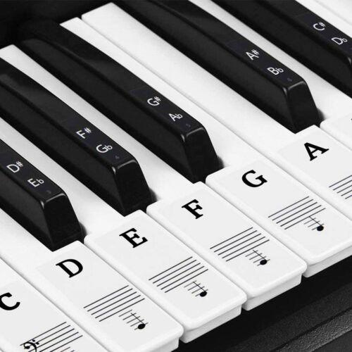 Klavier Aufkleber für 37//49//54//61//88 Tasten Klaviertasten Aufkleber Entfernbar