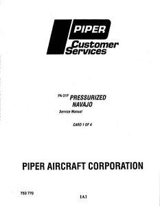 piper pa 31p pressurized navajo service manual part number 753 770 rh ebay com Piper Navajo Model Piper Seneca