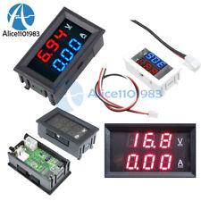 Dc 100v Digital Dual Led Blueredredred Volt Meter Gauge Voltmeter Ammeter 10a