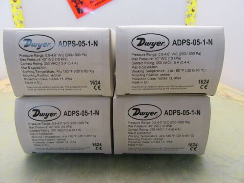 4*M-24 lot of 4x Dwyer ADPS-05-1-N adjustable differential pressure switches