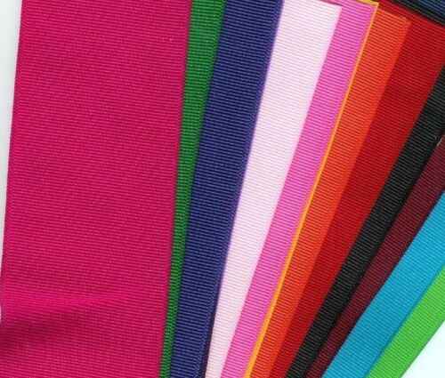 3 inch grosgrain ribbon 10 yards differ.colors. bonus 5//8 inch matching