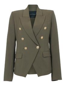 NWT Decjuba Australia Carly Blazer Jacket Khaki Military Grün Größe AU 10 US 6