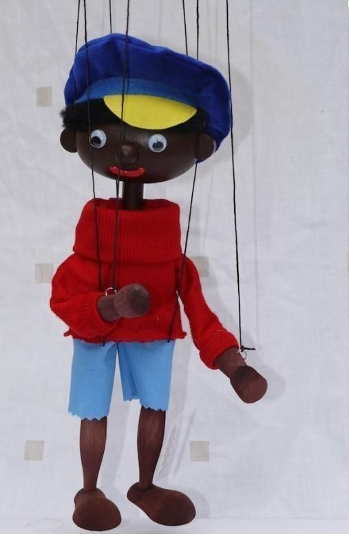 Augsburger Puppenkiste Jim Head Marionette