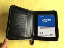 Personal Organiser Zipped  Folder in PU Leather Black 9986