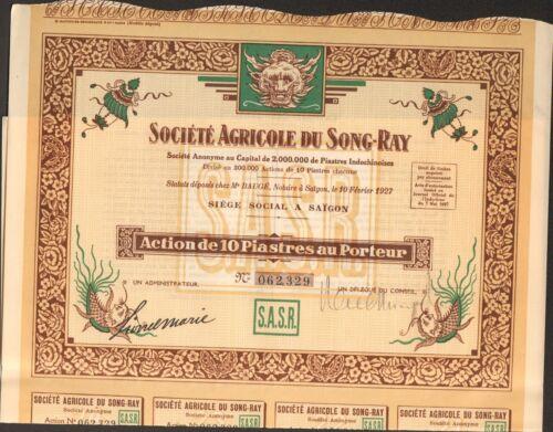 G DECO =/> Société Agricole du SONG-RAY SAÏGON INDOCHINE