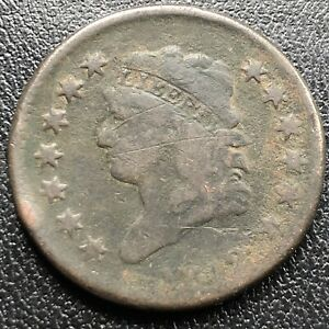 1812-Large-Cent-Classic-Head-One-Cent-1c-Rare-Circulated-17714