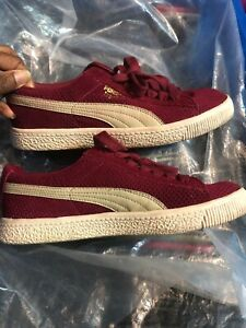 Details about Vintage Puma Clyde Burgundy Suede Leather Trainers Size 6 . Excellent Condition