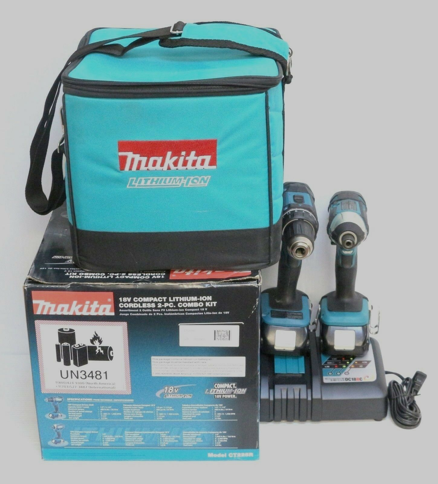 MAKITA 18-Volt LXT Lithium-Ion Cordless Driver Drill and Impact Driver Combo Kit