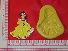 Princess Belle Silicone Mold Fondant Cupcake Topper Clay Candy A776 Chocolate