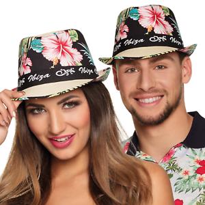 Ladies Mens Ibiza Fedora Tropical Beach Party Festival Summer Fancy Dress Hat