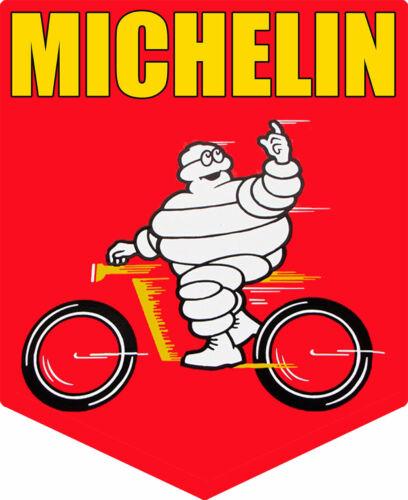 Michelin Man Riding Motorcycle//Bicycle Plasma Cut Metal Sign