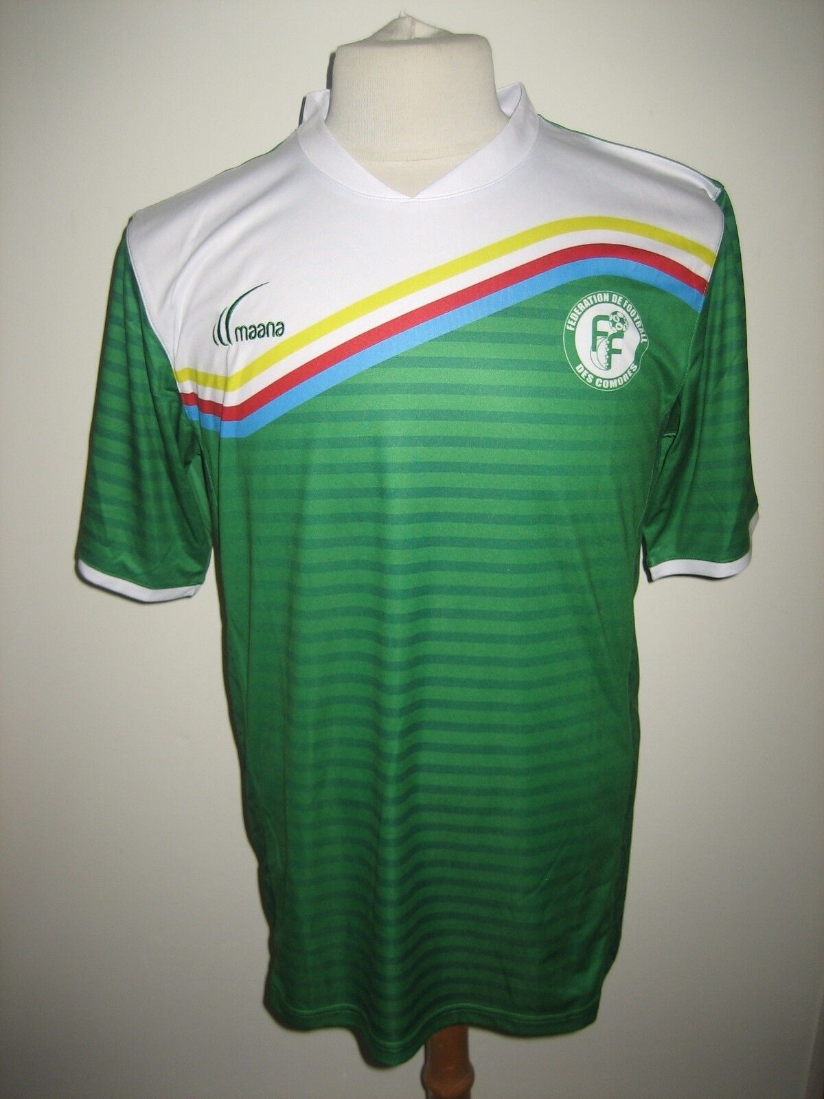 Comores home rare Africa CAF footbtutti shirt soccer jersey trikot maillot Diuominiione L