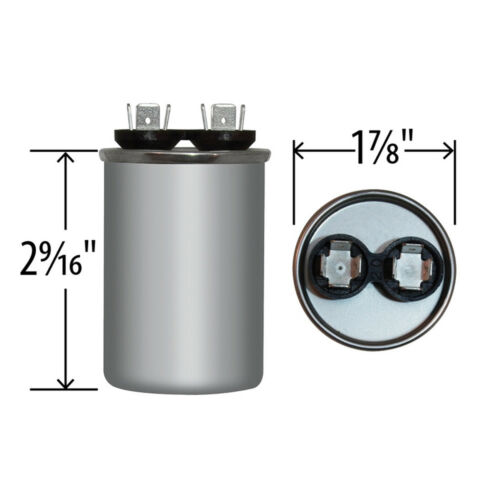 USA Replacement for Genteq Capacitor Round 15 uf MFD 440 volt Z97F9626 97F9626