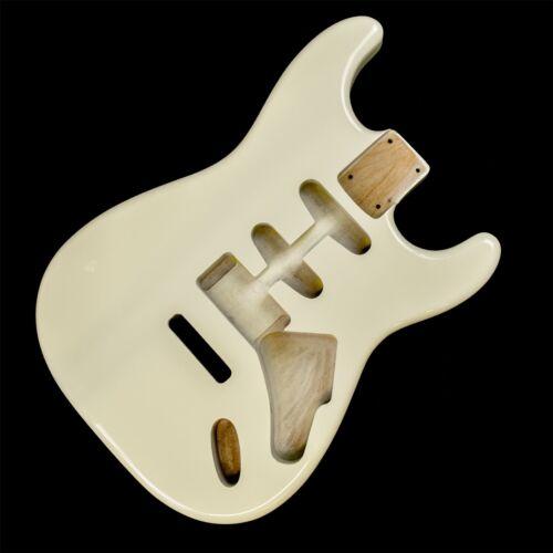 Vintage White HSS Stratocaster Electric Guitar Body 2 Piece American Alder