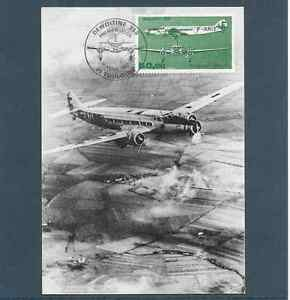 France-1987-CP-Fdc-Plane-Dewoitine-338-Obliteration-The-11-04-87-Toulouse