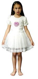 7145918c273e2 Neuf Filles Robes de Soirée en Rose Ivoire 5 6 7 8 9 10 11 Ans
