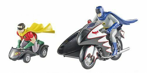 Batcycle con 2 figuras Batman TV series 1 12 Hot Wheels