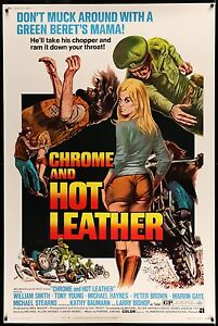 CHROME-AND-HOT-LEATHER-1971-40-034-x60-034-Movie-Poster-Exploitation-Grindhouse
