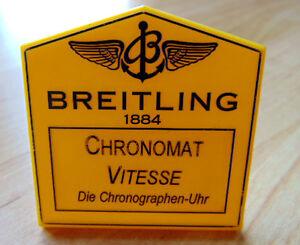 Gehorsam Breitling Aufsteller Chronomat Vitesse I224 Komplette Artikelauswahl