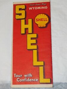 1930-039-s-Shell-Road-Map-of-Wyoming