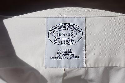 Brooks Brothers 16.5/35 Slim Fit Gentleman's White Dress Shirt