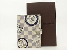 Louis Vuitton Authentic Damier AZUR Patch Agenda fonctionnel PM Diary cover Auth